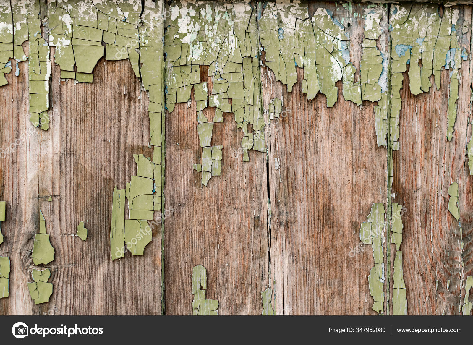Old Wooden Background Peeling Paint Vintage Boards Blue Green Coating Stock Photo C Anna2118 347952080