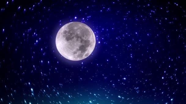 funkelnde Sterne und Mond