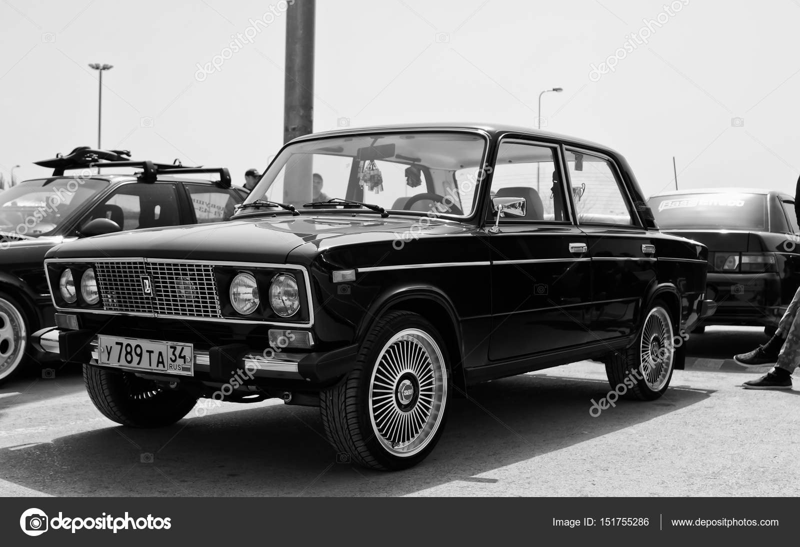 VAZ-2106 - a classic of the Russian automotive industry particip — Stock  Photo