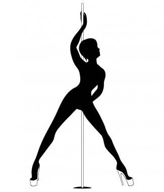 silhouette women pole dance exotic