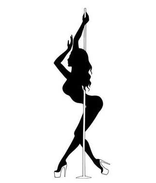 silhouette women pole dance exotic