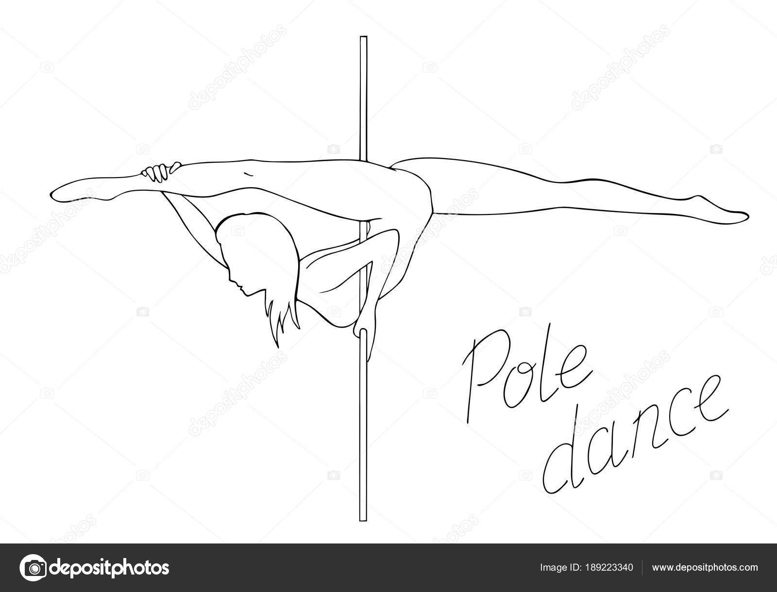 a376287d443a silhouette women pole dance — Stock Vector © EvgeniaGaydarova  189223340