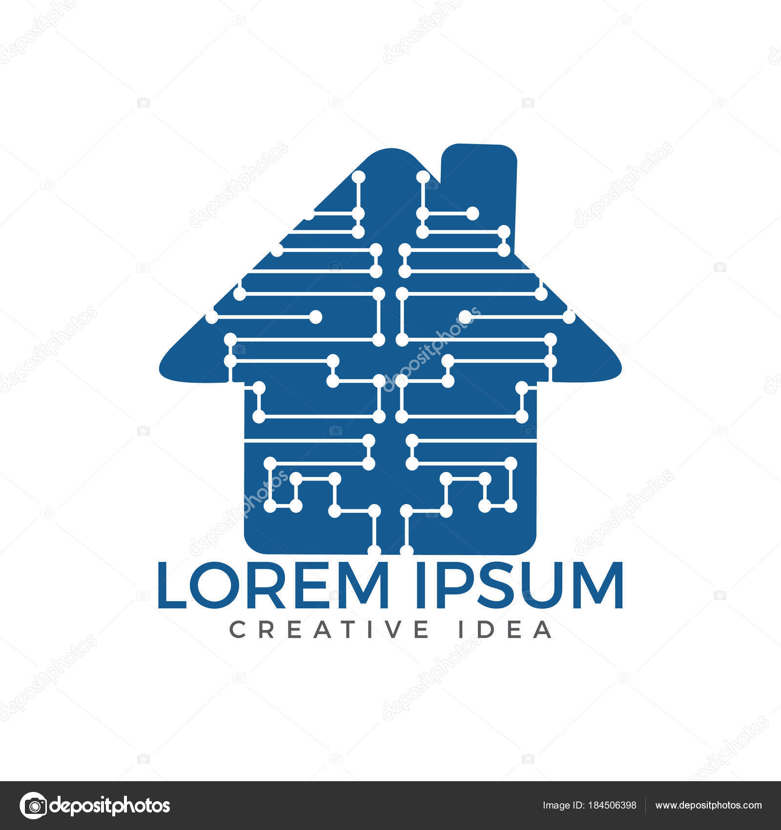 Home Technology Logo Template Circuit Board House Icon Home ...