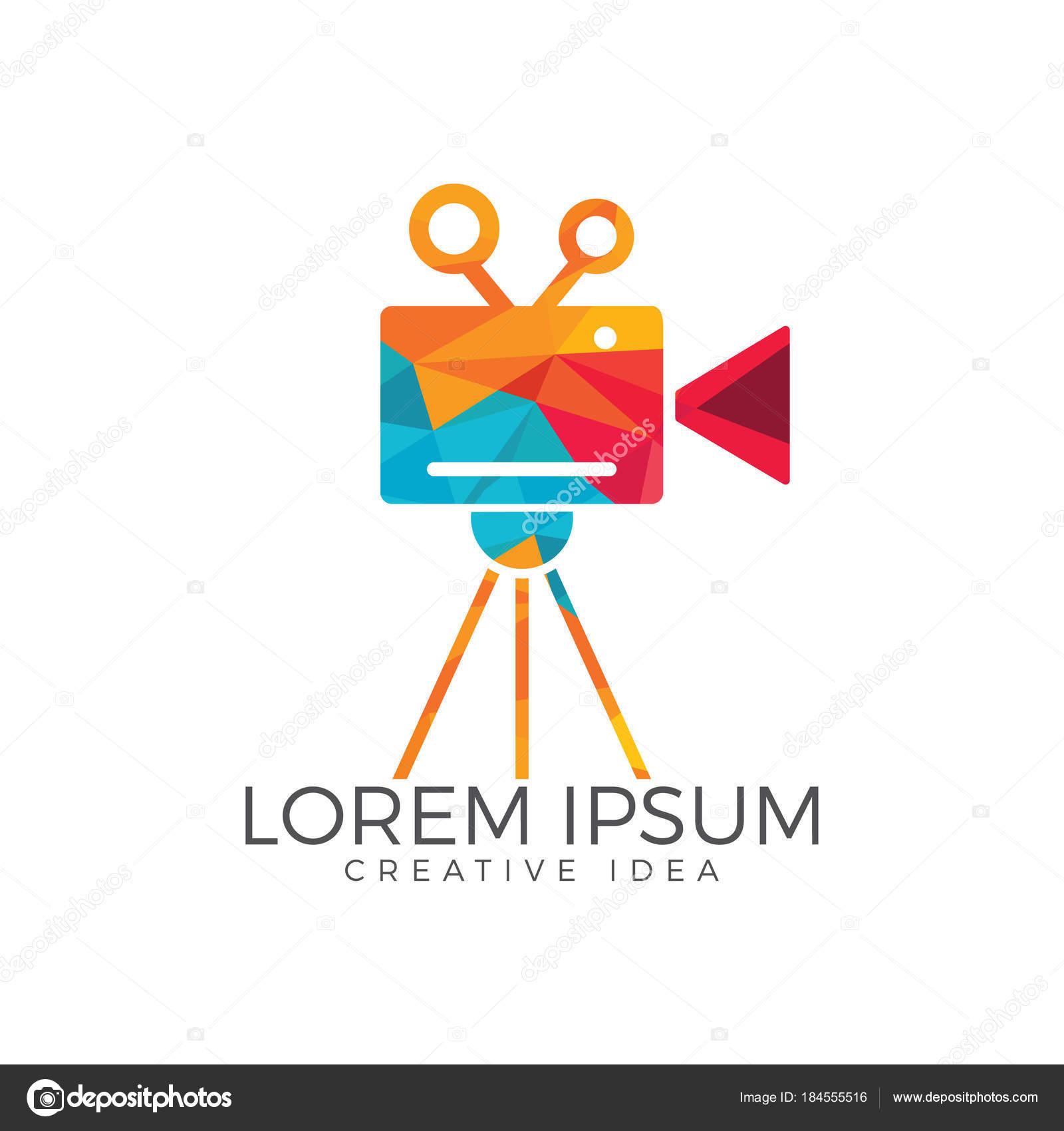 Film movie camera logo design stock vector for Camera film logo