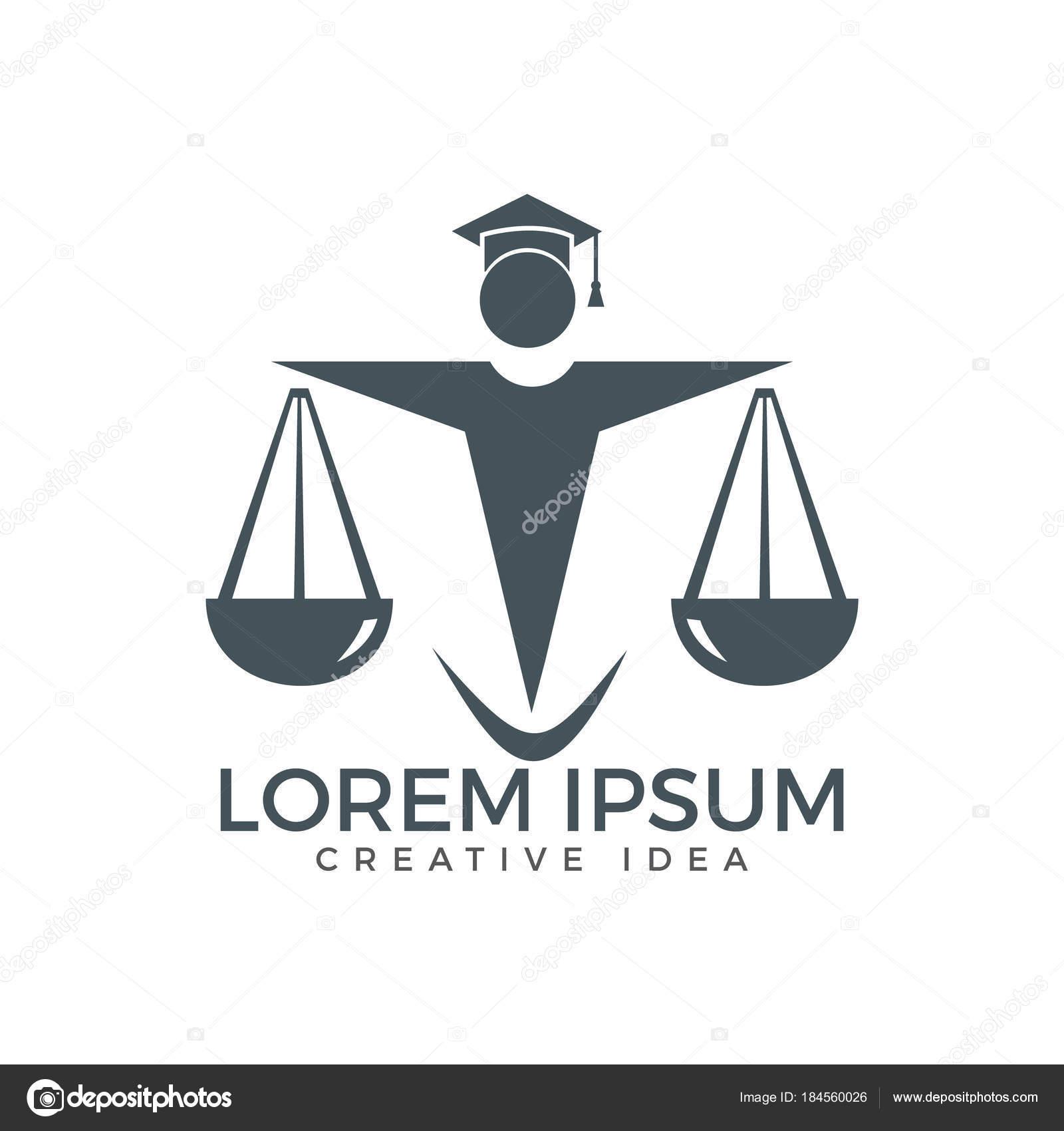 Uomo Che Tiene Bilancia Della Giustizia Logo Legge Avvocato Logo