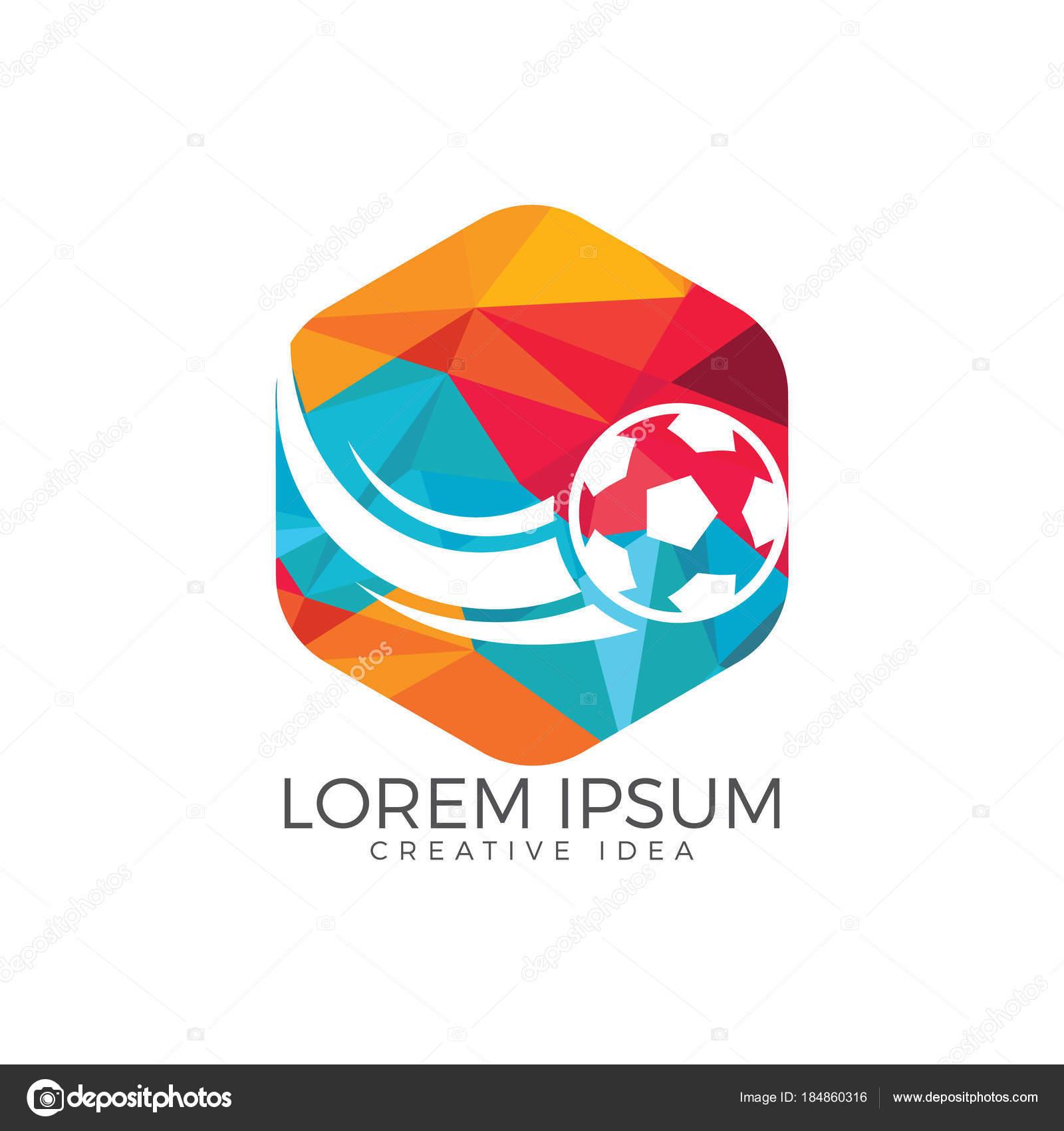 football sport logo vector design template stock vector