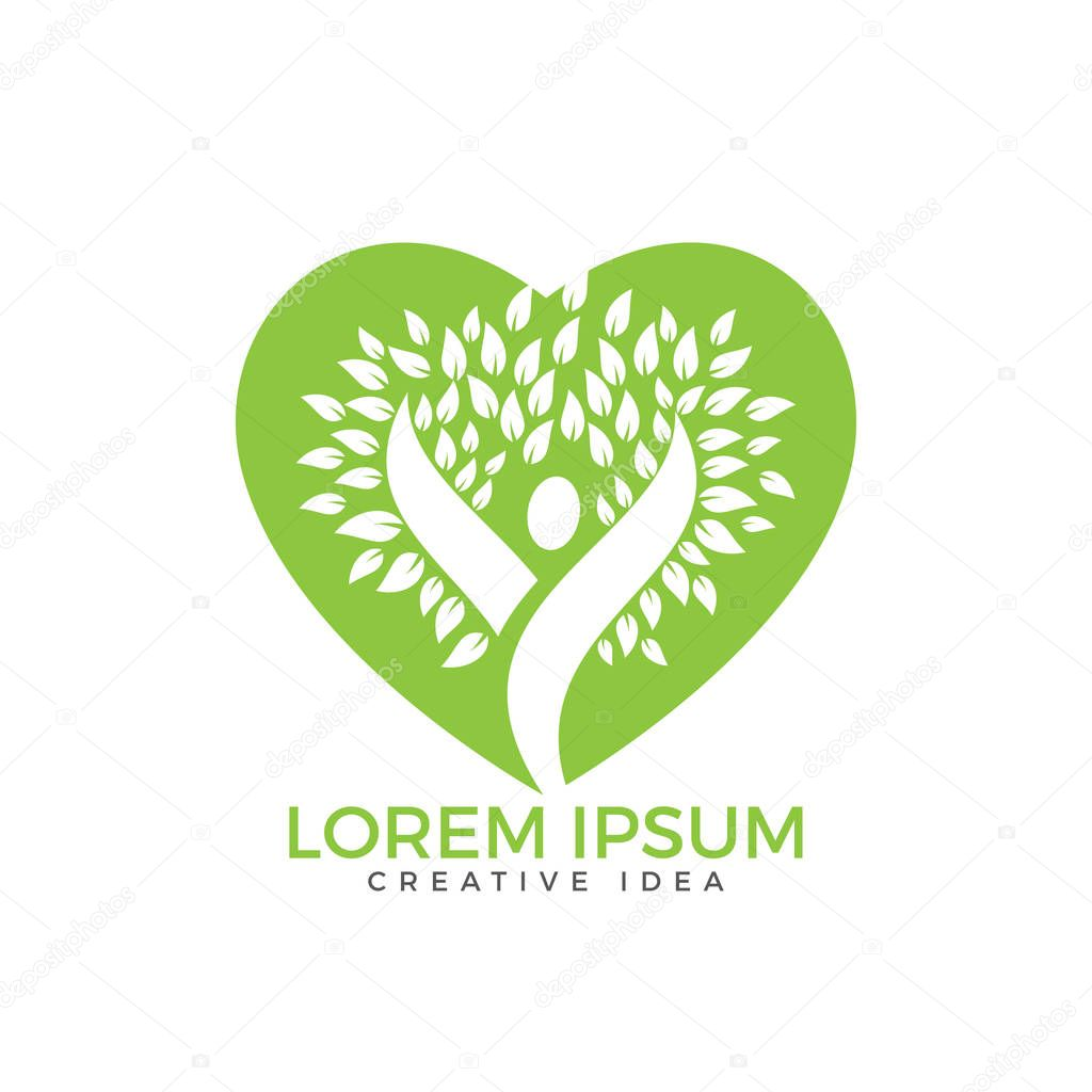 Health and medical logo. Natural care logo design.