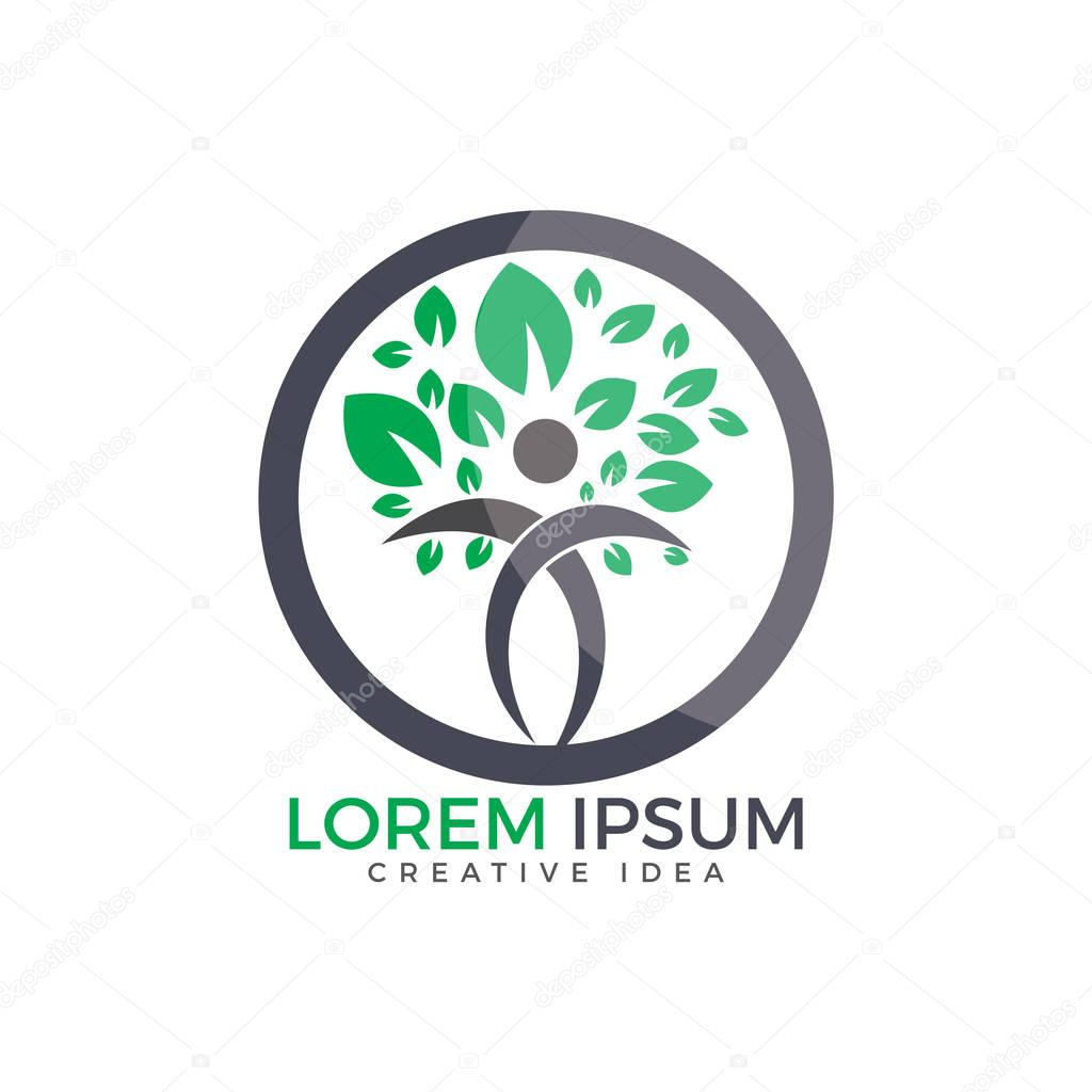 Holistic health logo design. Fitness and Wellness logo.