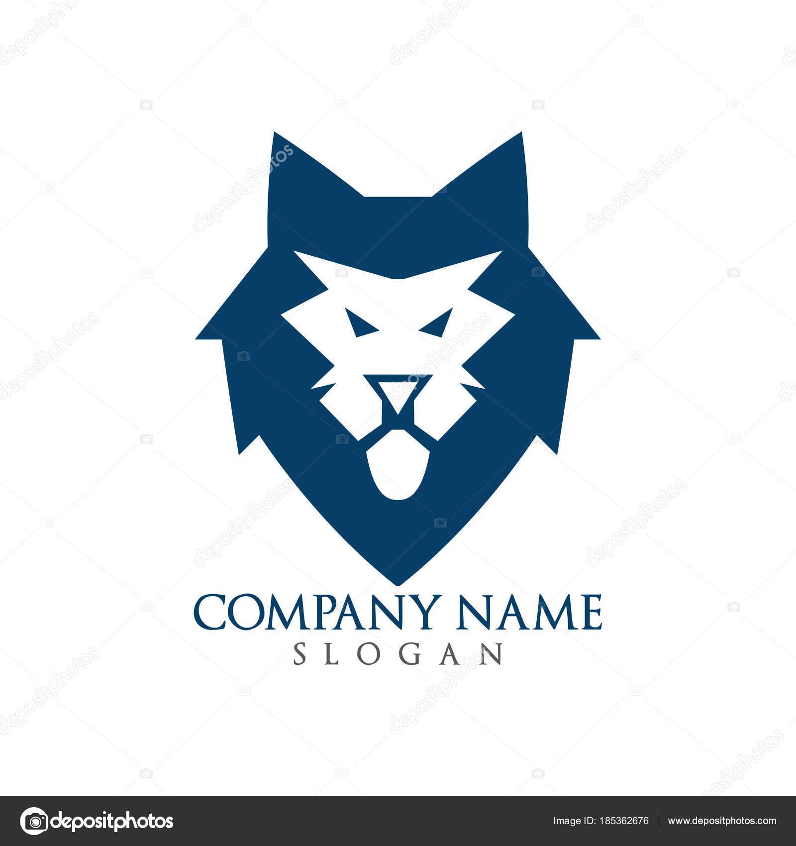 abstract lion logo design stock vector