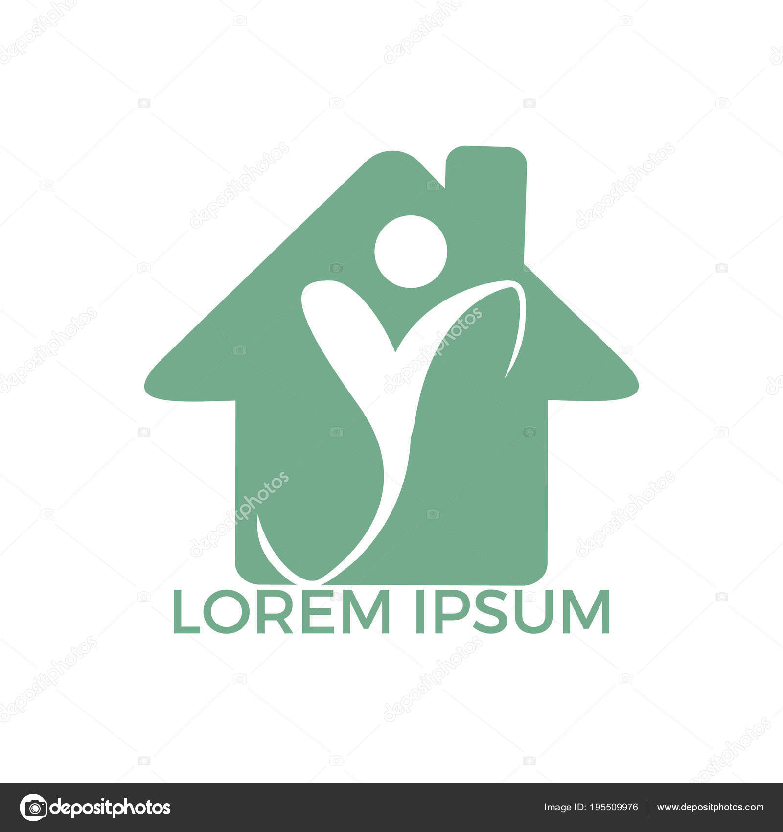 Human Health Logo Design Healthcare Home Shape Vector Logo Concept U2014 Stock  Vector