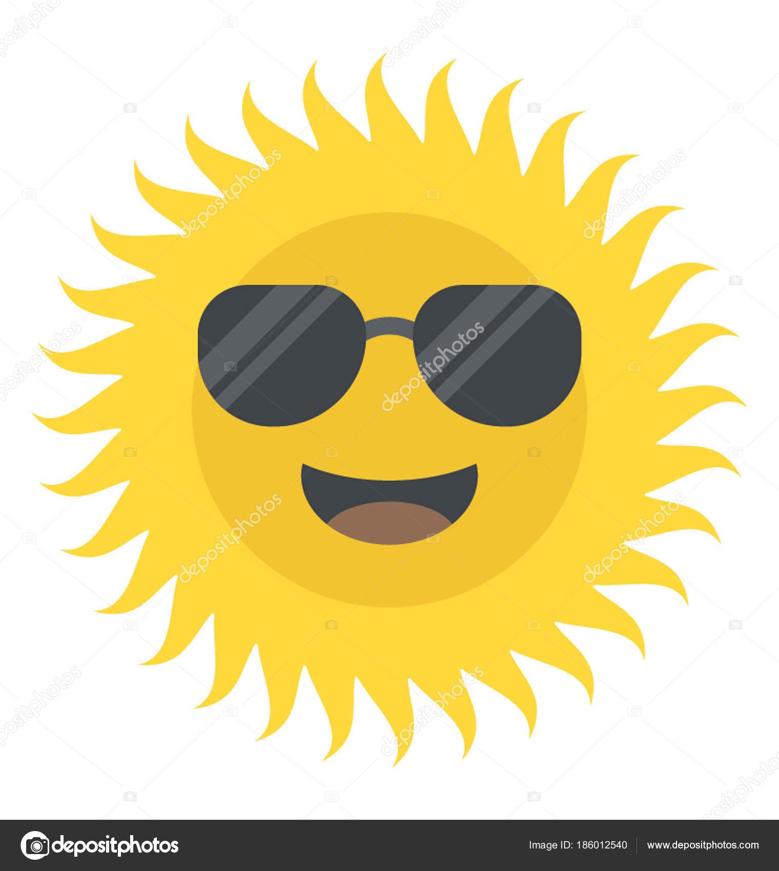 3013bdb450c3 Смешной Улыбающийся Солнца Носить Солнцезащитные Очки — стоковый вектор