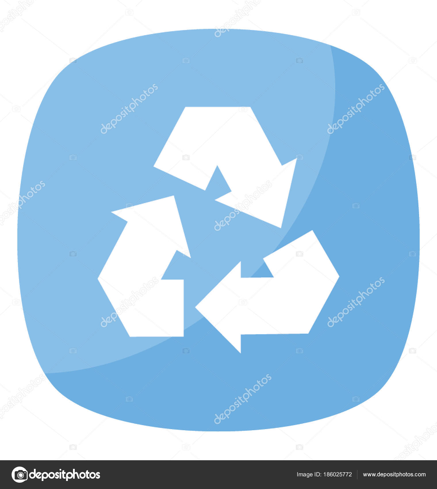 Three Clockwise Pointing Arrows Symbol Recycle Stock Vector