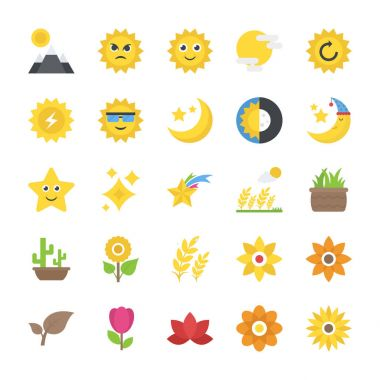 Pack of Nature flat Vector Icons icon