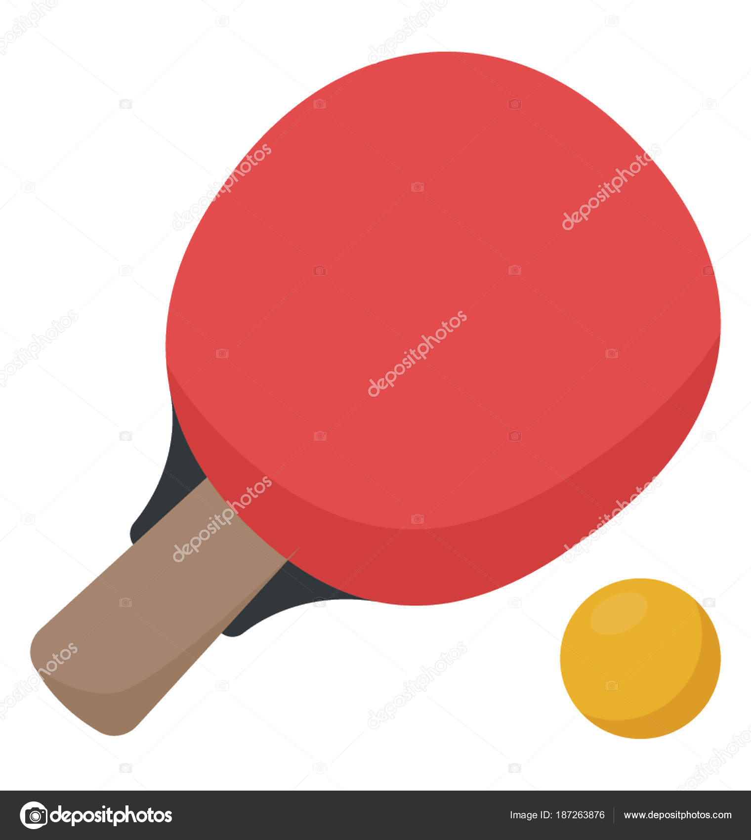 841872b76 Bola Tênis Mesa Raquete Ping Pong — Vetor de Stock © vectorspoint ...