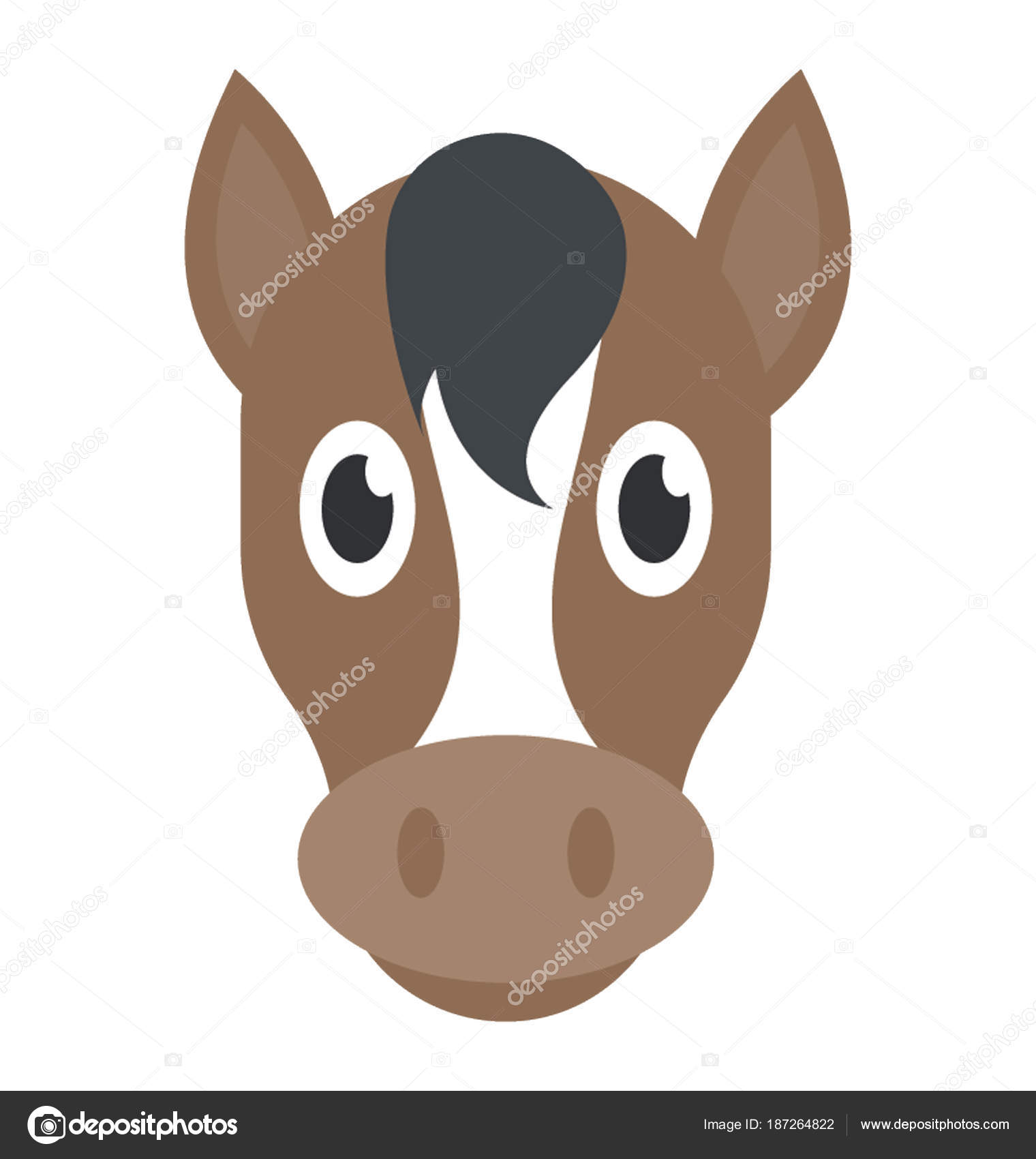 cute cartoon horse head stock vector  u00a9 vectorspoint horse head vector logo horse head vector free