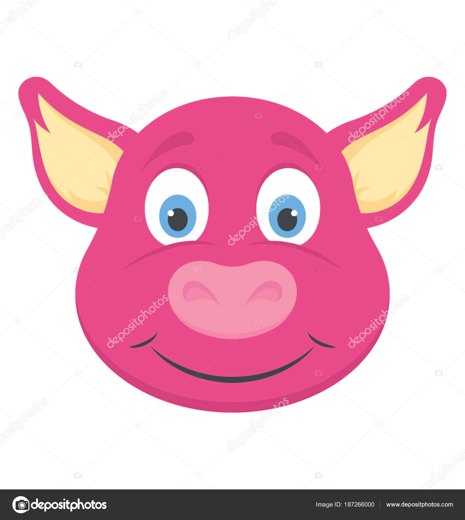 A Cute Smiling Baby Pig Face Wild Animal Vector By Vectorspoint