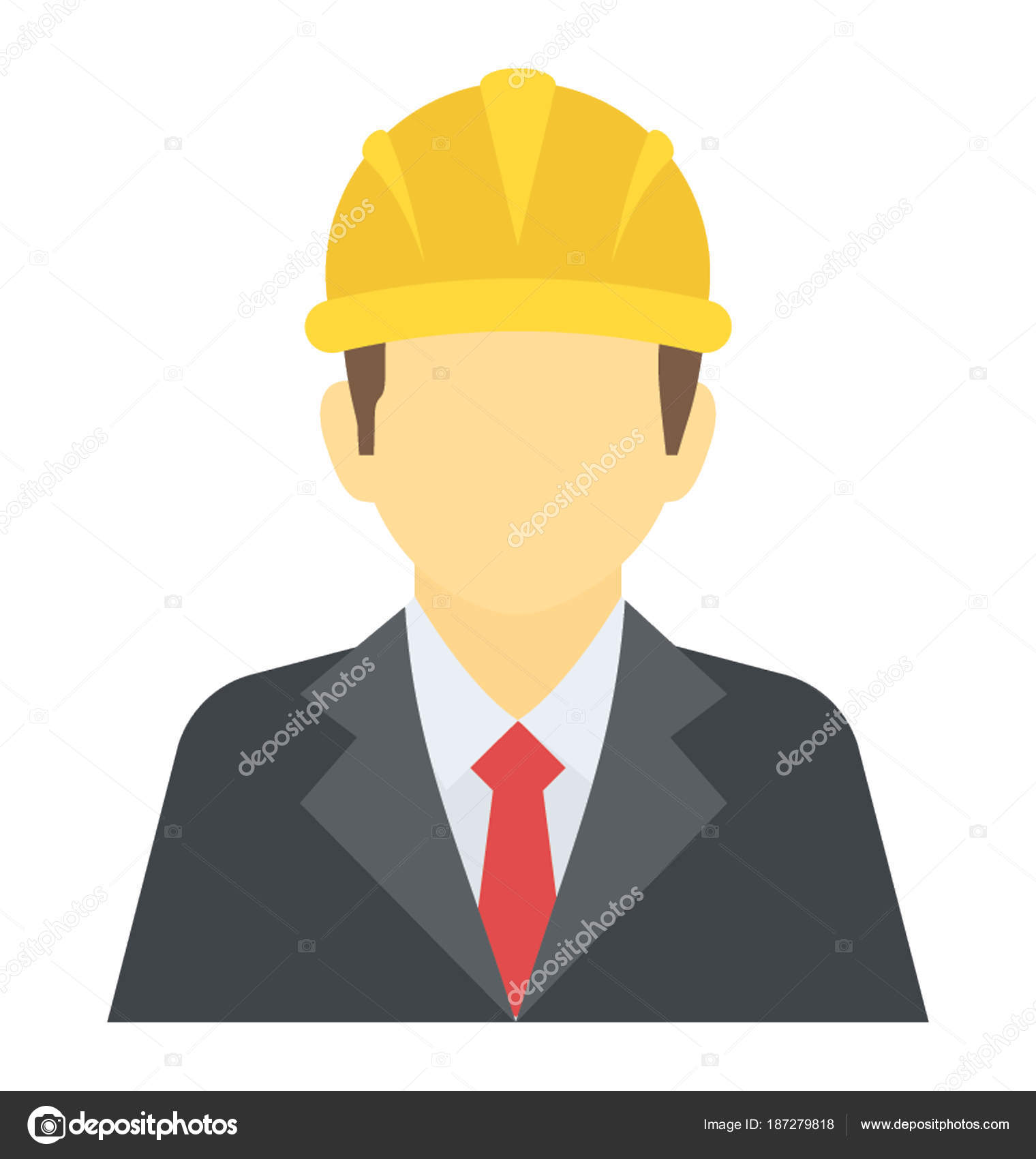 person wearing hard hat architect stock vector vectorspoint