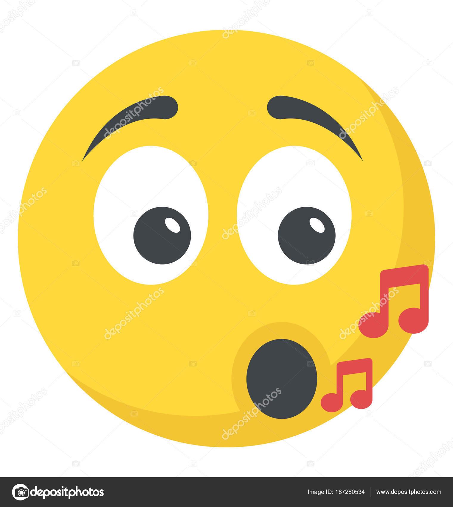 Smiley Music Note Emoticon Stock Vector C Vectorspoint 187280534