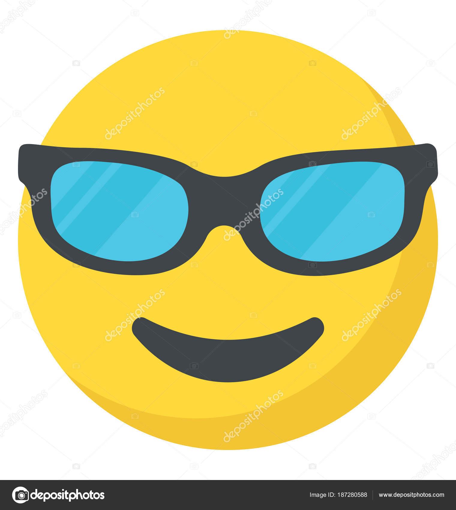 Cool Smiley Face Happy Emoji Stock Vector Vectorspoint 187280588