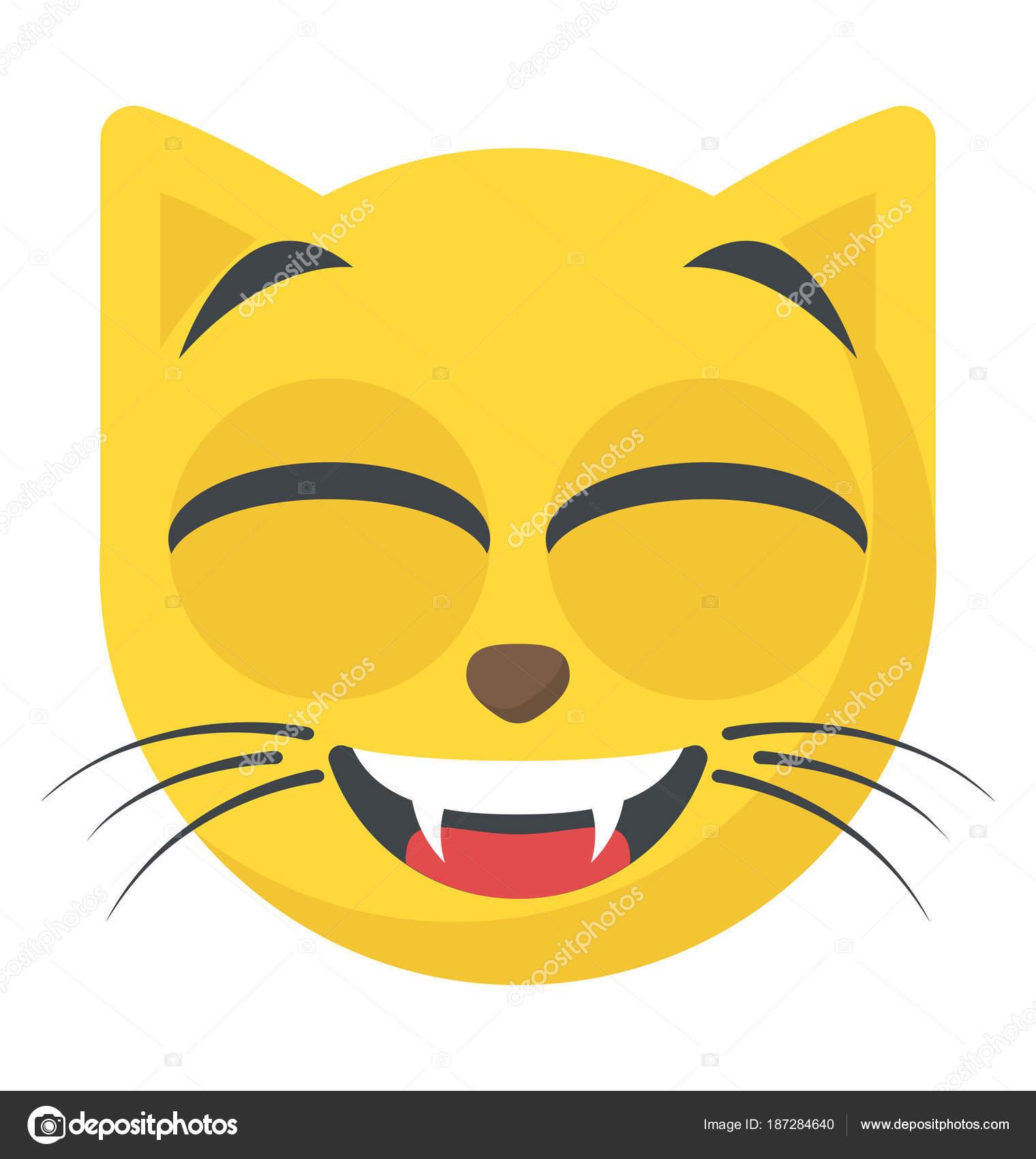 Simpatico cartone animato stile gatto emoji u vettoriali stock