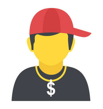 Rapper Flat Vector Icon