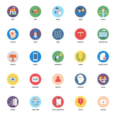 Media Related Flat Icons Vector Pack icon