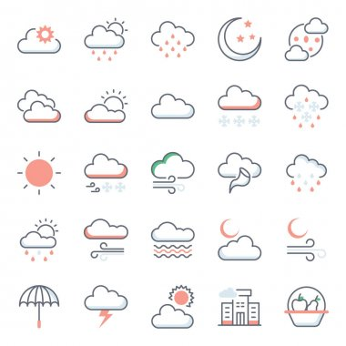 Cold Weather Flat Icons Pack icon