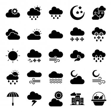 Cold Weather Solid Icons Pack icon