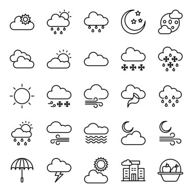 Cold Weather Line Icons Pack icon