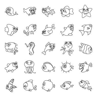 We are excited to present you with the greatest variety of fishes. The most beautiful cartoon fish make this pack amazing and unique. Check out this creative set and make it part of your collection. icon