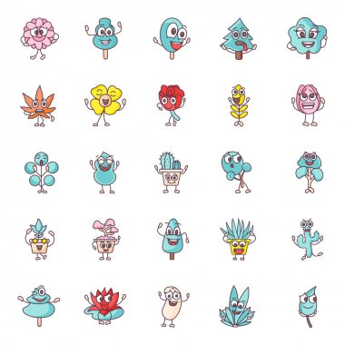 These are simple icon designs of spring flowers. This pack is composed of a variety of flowers and plants. An excellent pack to use in botany, plants, and other related projects. icon