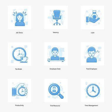 Technical human resource and recruitment flat icons pack in trendy flat styles is presented. These icons are uniquely designed to portray the business conceptual services. Hold this set and use it as per project needs. icon