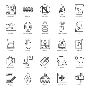 Business and Shopping Line Icons Pack icon