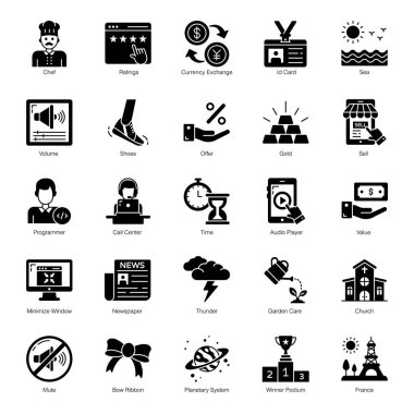 Business and Shopping Solid Icons Pack icon