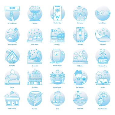 Weather Disasters Flat Icons Pack icon