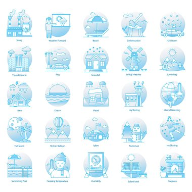 Conceptual Weather Flat Icons Pack icon