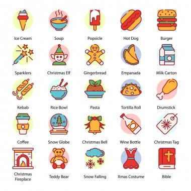 Pack Of Xmas Flat Icons icon