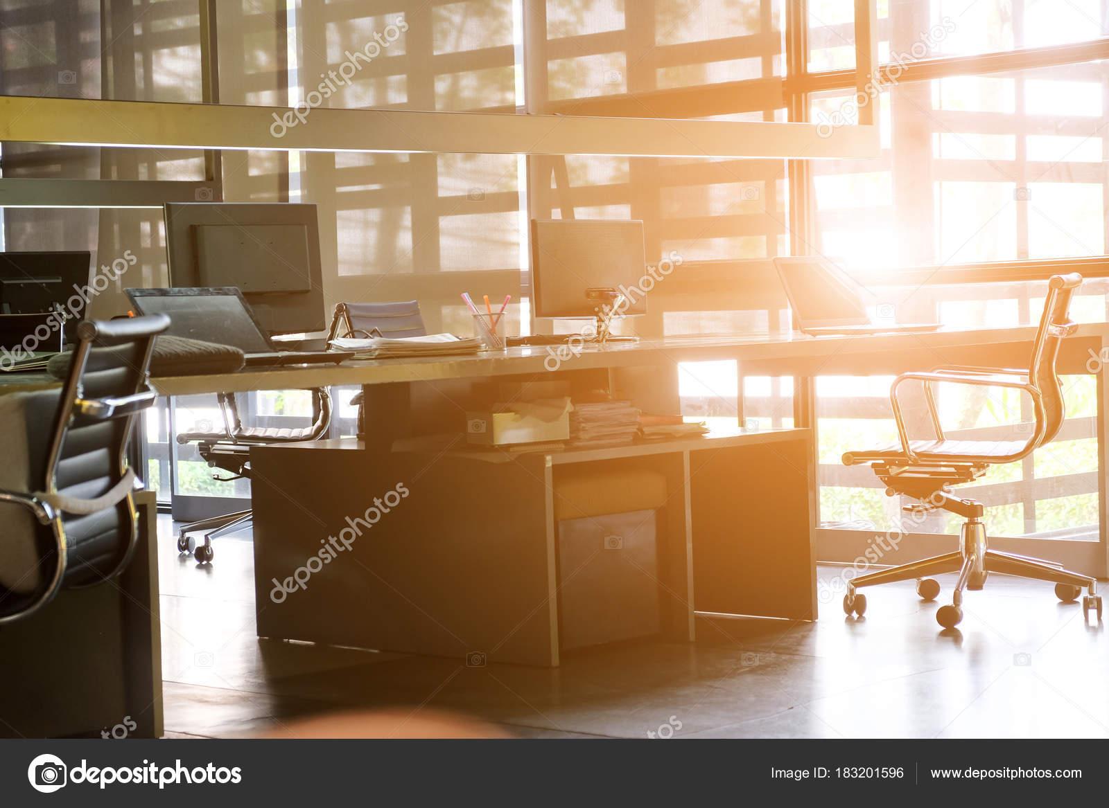 Bureau imago van moderne kantoor interieur achtergrond een idee van