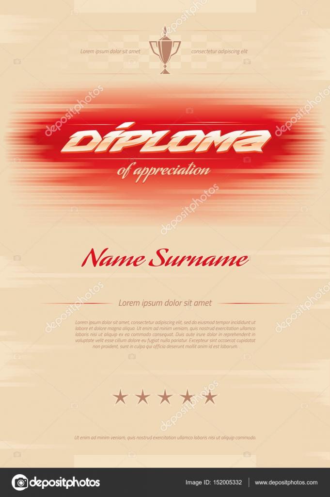 Zertifikat vergibt Diplom. Horizontal in A4-Größe-Muster ...