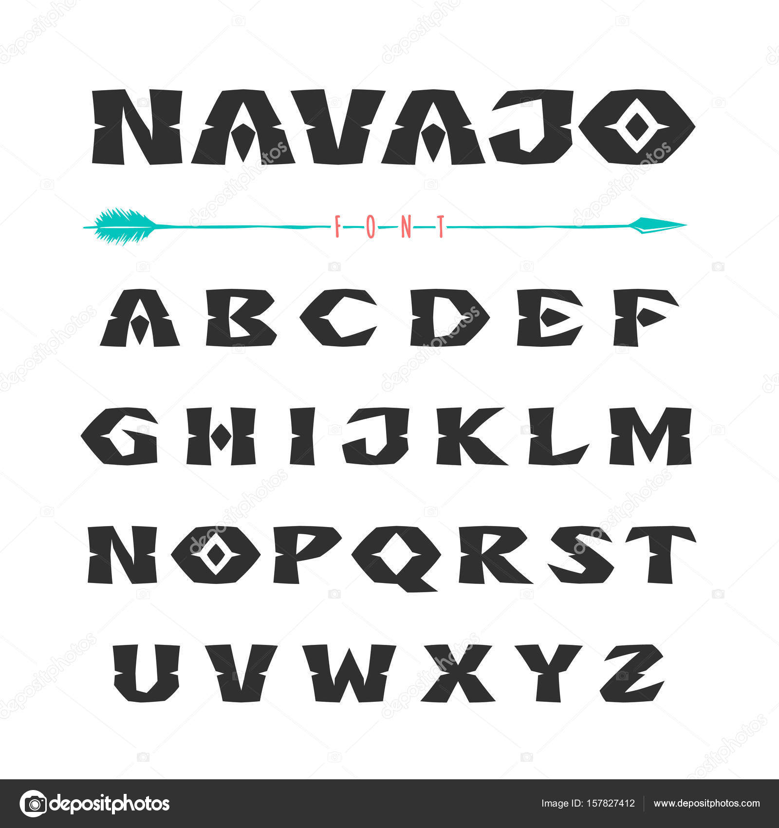 Indian Inspired Font