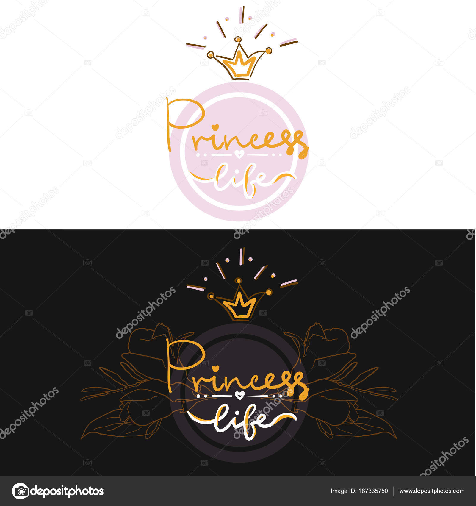 set of two girl color logo projekt lettering party birthday card print t