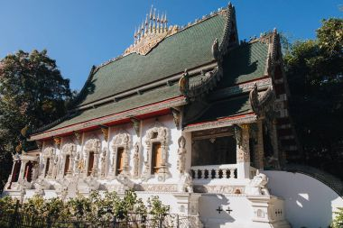 beautiful traditional ancient architecture at Chiang Mai, Thailand
