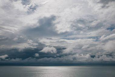 Cloudy sky above calm ocean, Krabi, Thailand stock vector