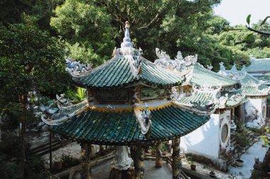 Beautiful traditional vietnamese architecture in Da Nang, Vietnam stock vector