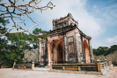 Traditional ancient building in Hue, Vietnam stock vector
