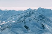 majestátní pohled s čepičkami v mayrhofen, Rakousko