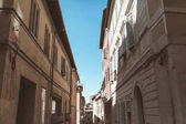 Photo street in Siena