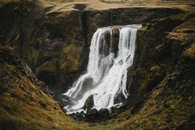 waterfall and rocks