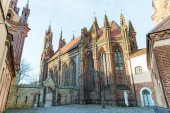 Photo architecture of beautiful Church of St Anne, Vilnius, Lithuania
