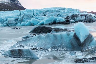 Beautiful scenic glacial landscape, Svinafellsjokull Glacier, Iceland stock vector